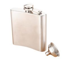HGHO-Stainless Steel Whisky Liquor Alcohol Pocket Hip Flask +Funnel