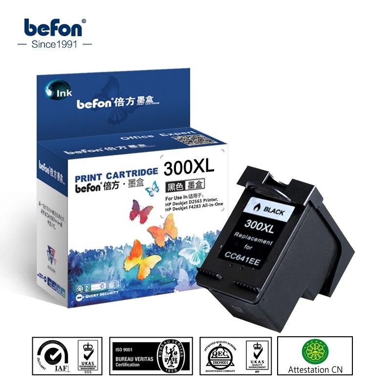 Befon Refil Preto HP300 300XL Cartucho de Substituição para HP 300 XL Cartucho de Tinta Deskjet D1660 D2560 D2660 D5560 F2420 F2480