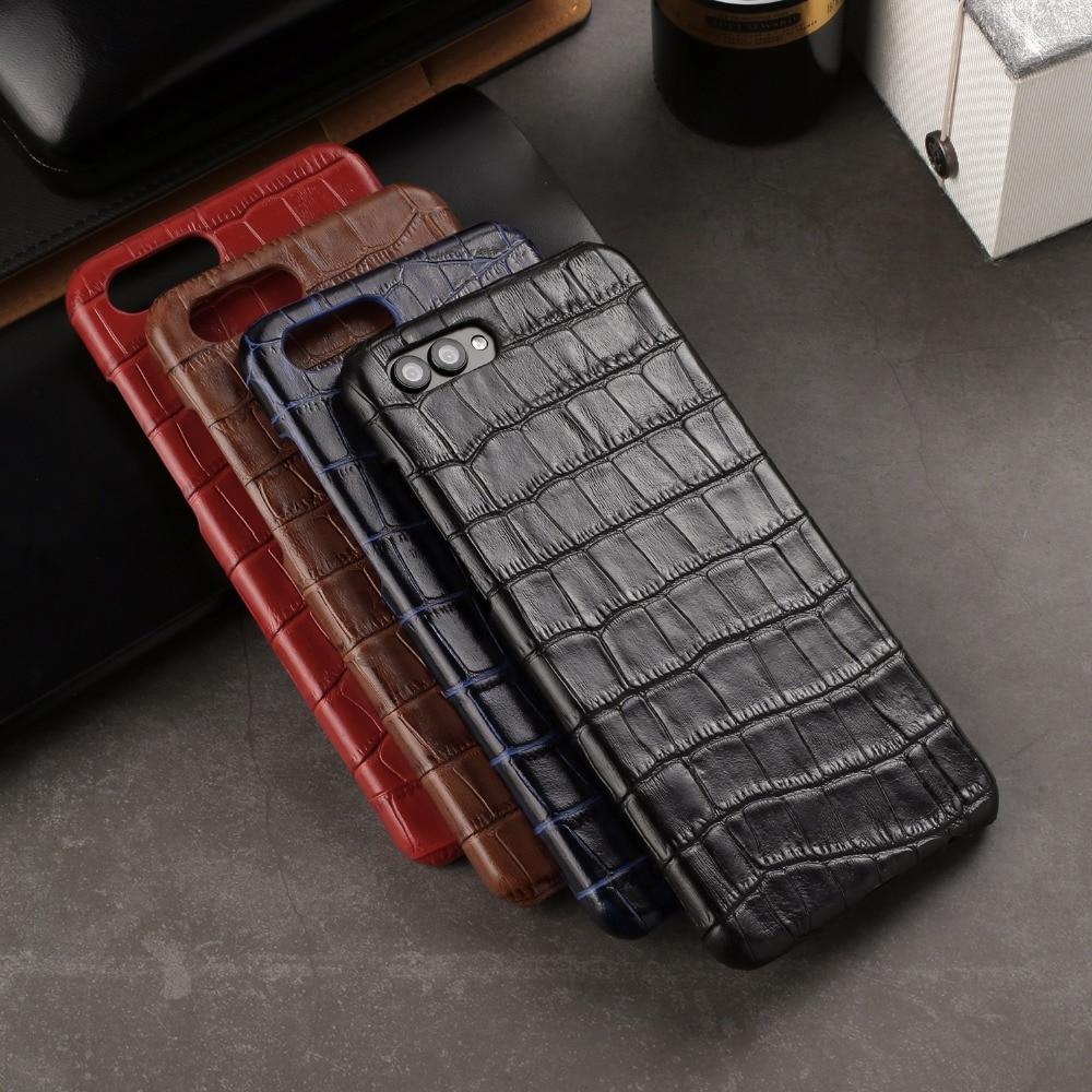 Роскошные 3D крокодиловой кожи honor view10 чехол Натуральная кожа телефон случаях Обложка для huawei honor вид 10 V10 ультра тонкий мобильный Капа