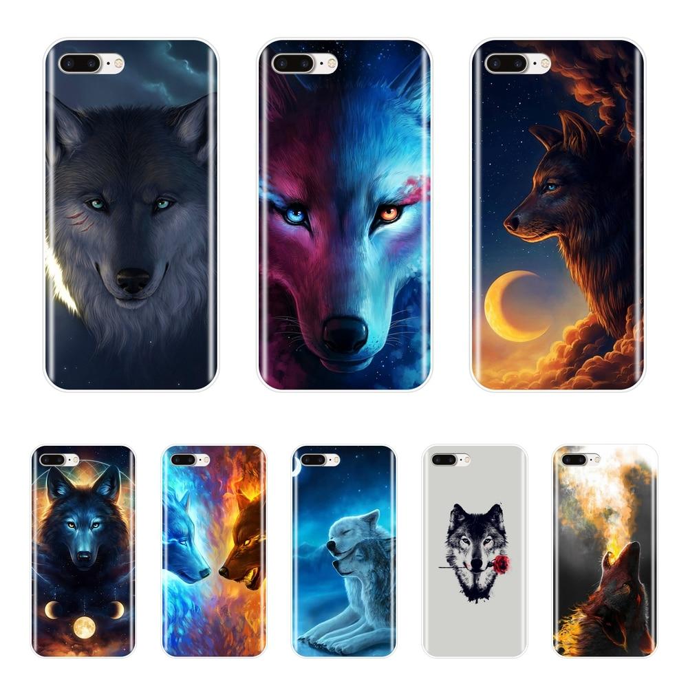 Cool Loup Doux Silicone Téléphone étui pour iPhone 6 S 6 S 7 8 X XR XS Max Couverture Arrière Pour Apple iPhone 8 7 6 S 6 S Plus