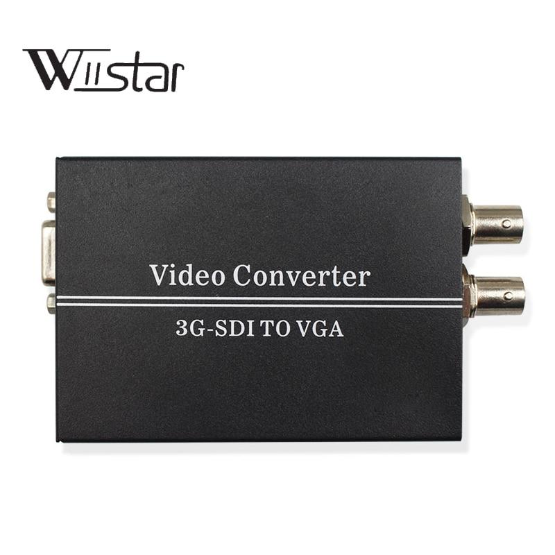 Convertisseur SDI vers VGA BNC HD 3G SDI vers VGA 1080 P + convertisseur Audio avec boucle SDI 3.5mm prise en charge Jack jusqu'à 300 M pour caméra moniteur