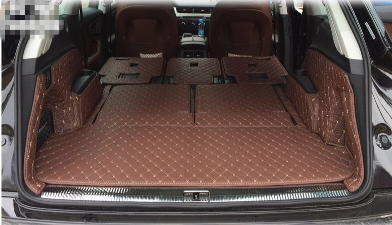 High Quality Special Trunk Mats For Audi Q7 7 Seats 2018