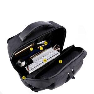 Image 3 - Sac à dos dordinateur portable 15.6 pouces étanche pour hommes, sacoche pour ordinateur portable, recharge externe USB, cartable décole