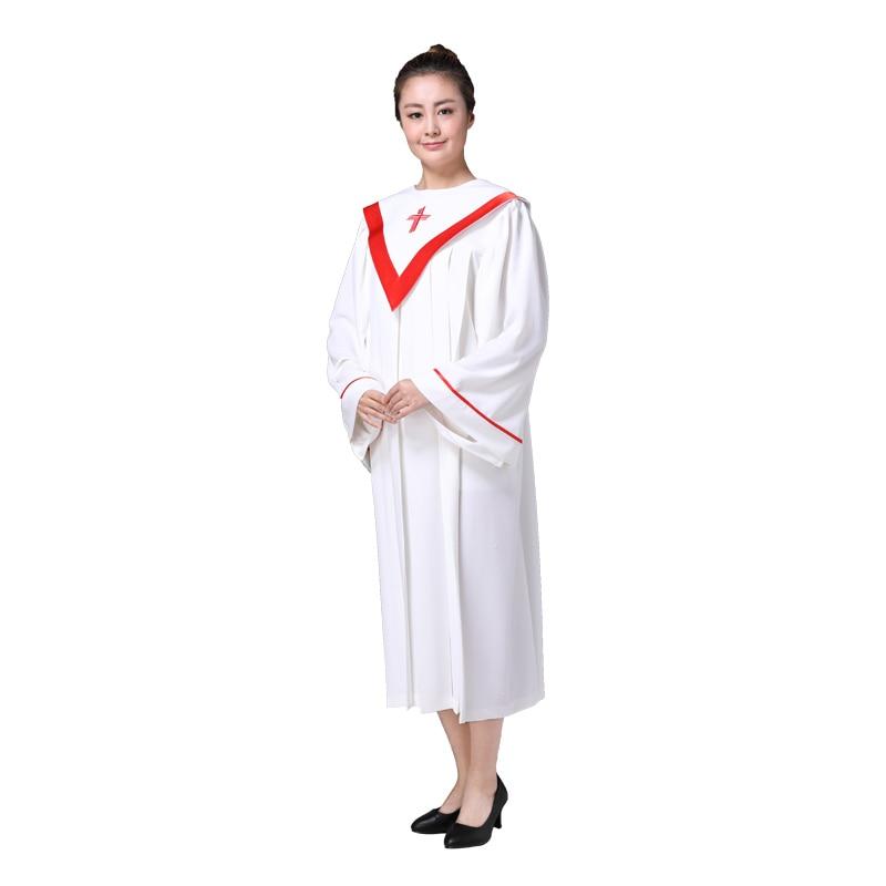 Christmas Christian Church choir singing clothing apparel High quality women's Christian robe costumes