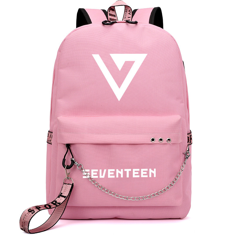 Seventeen 17 Korean Stars Black Backpack Bag School Book Bags Laptop Boys Girls Back To School Gift Casual Luggage & Bags