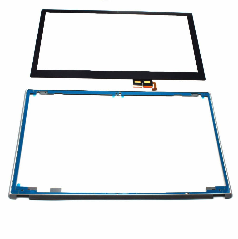 NEW 15.6 For Acer Aspire V5-571 V5-571P V5-571PG Touch Screen Digitizer Glass Replacement WITH Silver Frame 14 touch glass screen digitizer lcd panel display assembly panel for acer aspire v5 471 v5 471p v5 471pg v5 431p v5 431pg