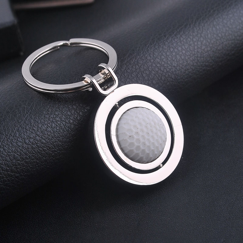 Creative Car Keychain Key Ring Anime Sports Can Turn Golf Car Styling Key Ring Decoration Accessories Key Chain Car