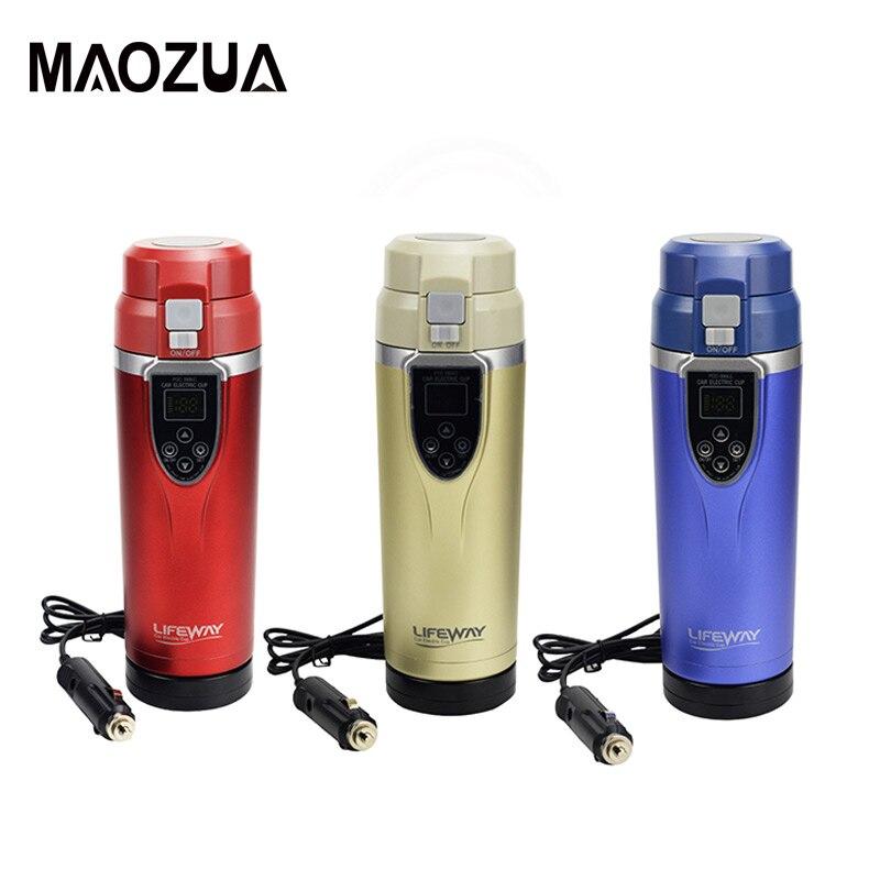 12 V/24 V 350ml กาต้มน้ำสำหรับเครื่องทำความร้อนถ้วยกาแฟอุ่นชาเดือดแบบพกพายานพาหนะไฟฟ้ากาต้มน้ำร้...