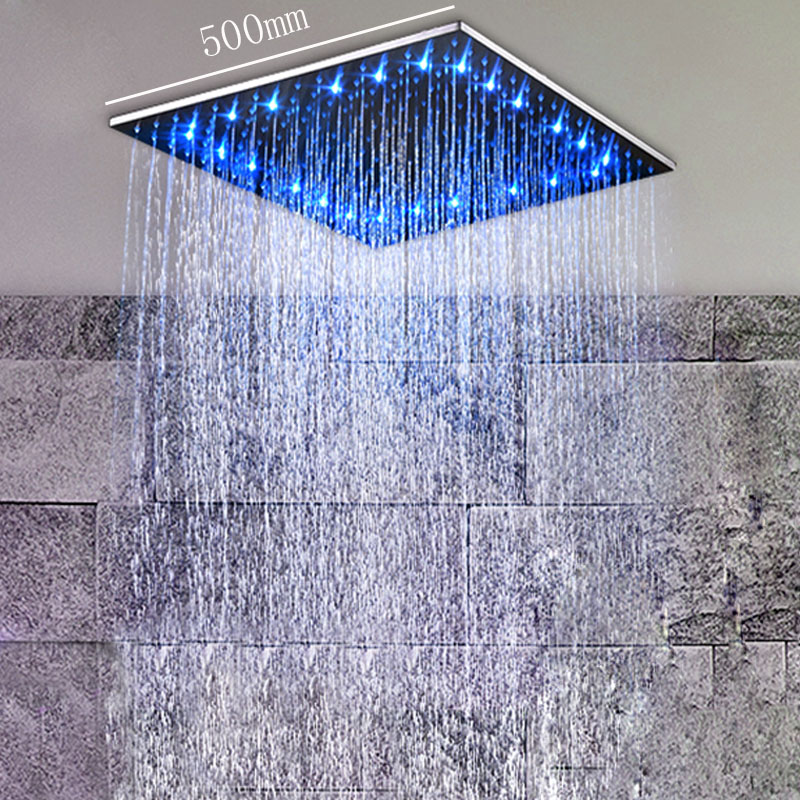 ᑎ‰Bathroom Accessories Shower Heads 20 Inch LED Showerhead Rain ...