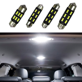 100pcs 6SMD 4014 C5W 31mm/36mm/39mm/41mm LED auto interior glove box lamp Dome festoon bulb License Plate light wholesale price