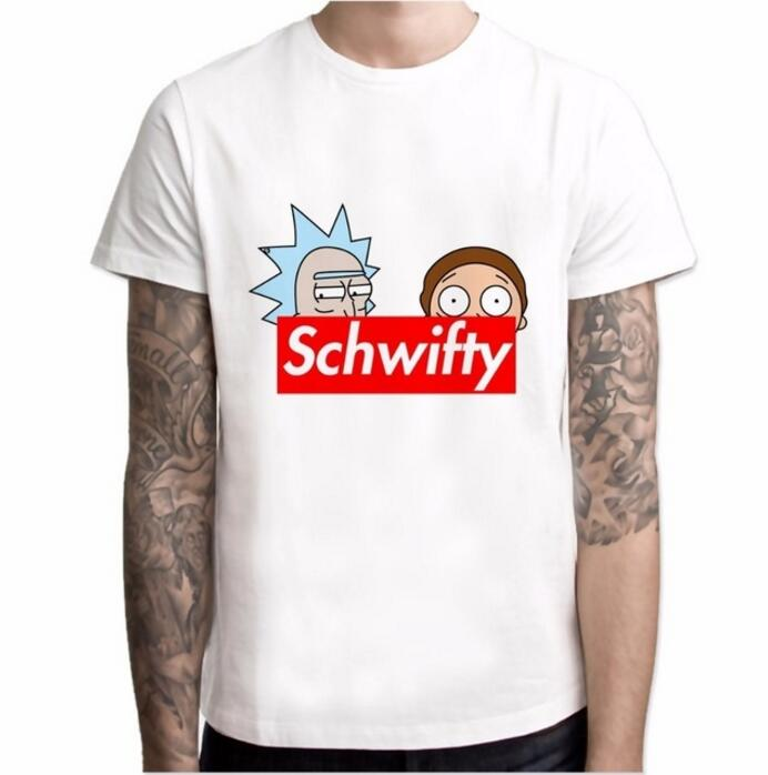 2018 rick and morty t shirt ricky y morty schwifty T-shirts Print rock t shirt boys rick ...