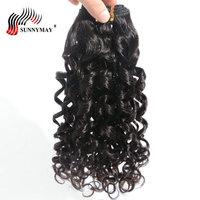 Sunnymay малазийские виргинские волосы спиральные вьющиеся 3 пучка предложения человеческие волосы переплетения пучок s натуральный цвет