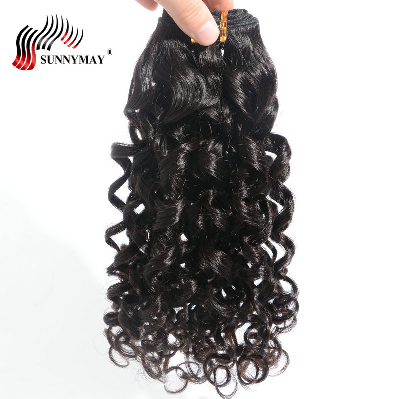 Sunnymay Malaysian Virgin Hair Spiral Curly 3 Bundle Deals Human Hair Weave Bundles Natural Color