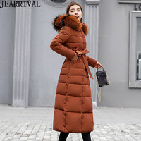 High Quality Winter Jacket Women Parkas 2018 New Fashion Large Fuax Fur Collar Casual Long Winter Coat Thick Warm Outwear
