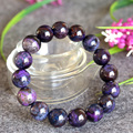 Wholesale Genuine Natural Purple Sugilite Stretch Finish Men Bracelet Round Big beads 13mm 04384