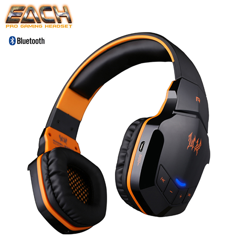 KOTION EACH Earphones Gaming Headset Wireless Headphones Bluetooth 4.1 Stereo Headsets Music Volume Control Earphone With Mic ve bc vebc msop