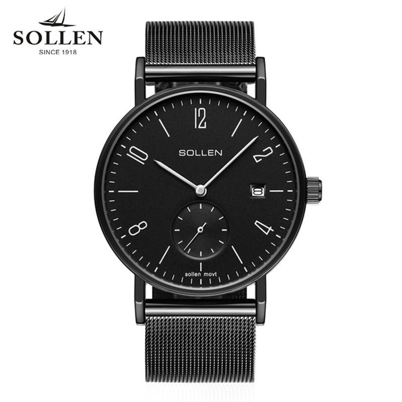 SOLLEN Horloges Topmerk Luxe Staal Casual Quartz - Herenhorloges - Foto 1