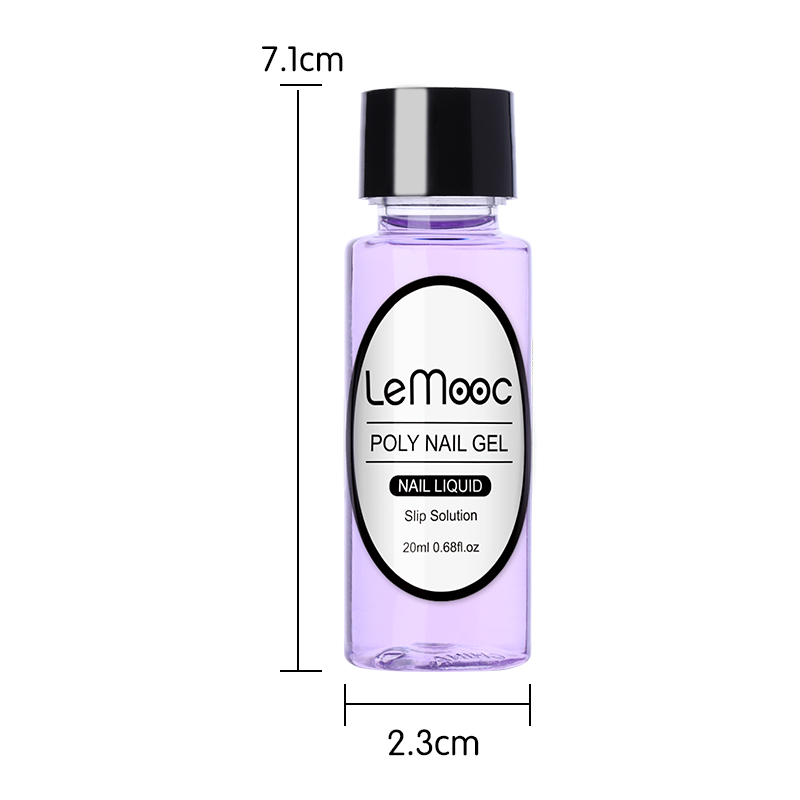Image 5 - LEMOOC 20ml Poly UV Gel Slip Solution for UV Soak Off Nail Liquid Acrylic Builder UV Gel Extension Manicure Gel Varnish P35-in Nail Gel from Beauty & Health