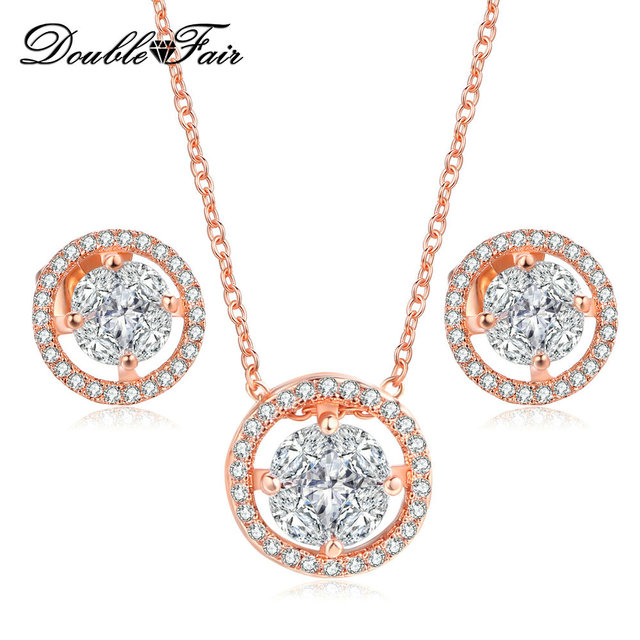 OL Style Elegant Wedding Jewelry Sets Women Earrings Necklaces
