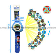 ZXS puppy patrol projection watch anime figures Russian toys led projector cartoon watch for children day