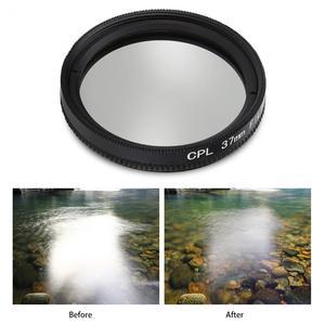 Image 4 - 37 مللي متر CPL + UV عدسة تصفية ل YI 4K عمل الرياضة عدسة الكاميرا واقية غطاء محول حلقة