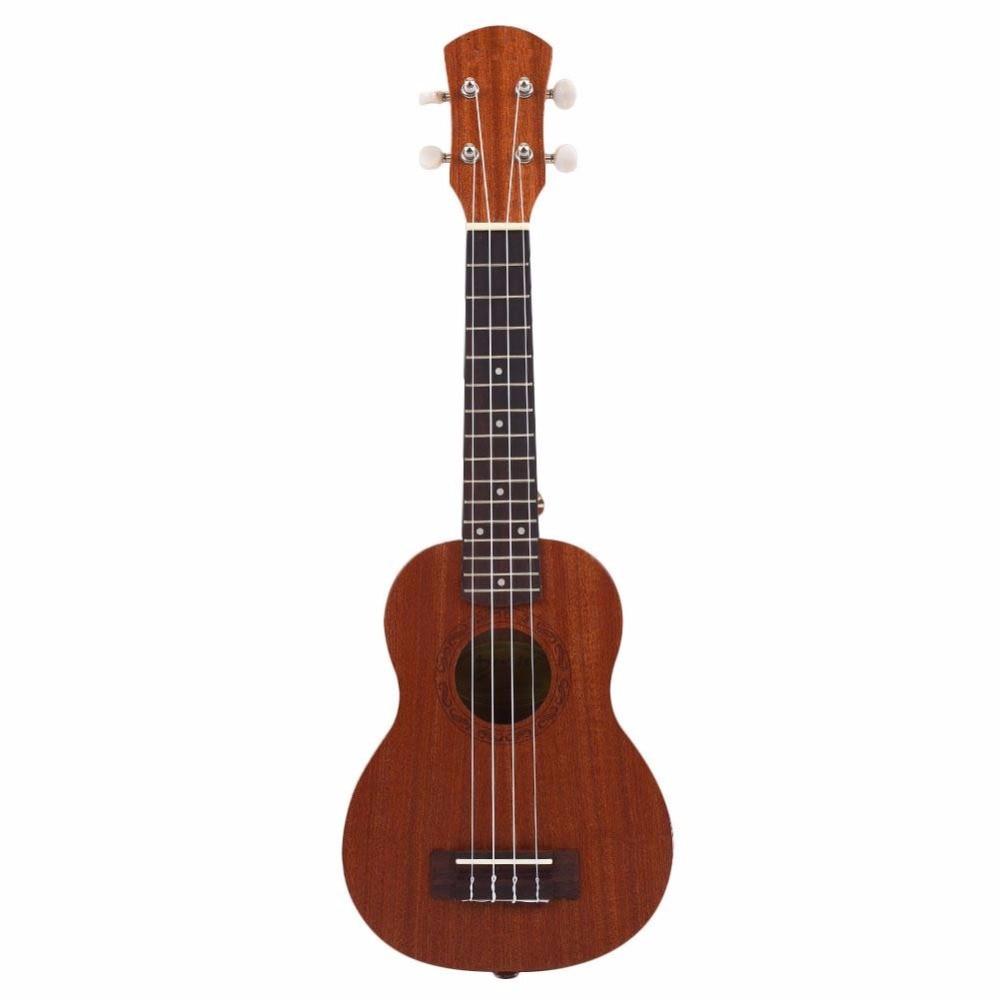 21 Inch Acoustic Electric Ukulele Guitar 4 Strings Ukelele Guitarra Handcraft Rosewood Guitarist Shabili Plug-in Guitar Musical