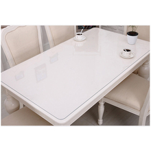 1PC PVC Waterproof Tablecloth Home Textile Kitchen Table Cover Oil cloth Soft Glass Thickness 1mm
