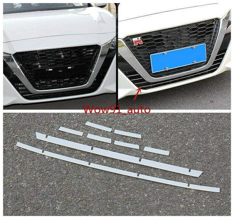 2019 stainless steel Front Grille Decorative Cover Trim FOR NEW Nissan Altima 8x2019 stainless steel Front Grille Decorative Cover Trim FOR NEW Nissan Altima 8x