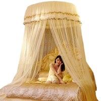 Luksusowe Romantyczny Wisiał Kopuła Komara Księżniczka Studenci Koronki Okrągły Moskitiery Insect Bed Zadaszenie Siatki Kurtyny na Pościel