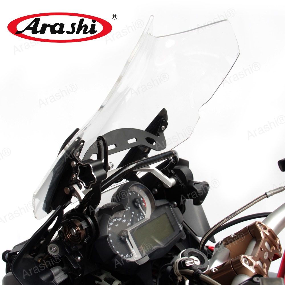 купить ARASHI Adjustable Windscreen Mount For BMW R1200GS 2013-2018 Reinforcement Bracket Support R1200 GS R 1200 13 14 15 16 17 18 по цене 3398.52 рублей