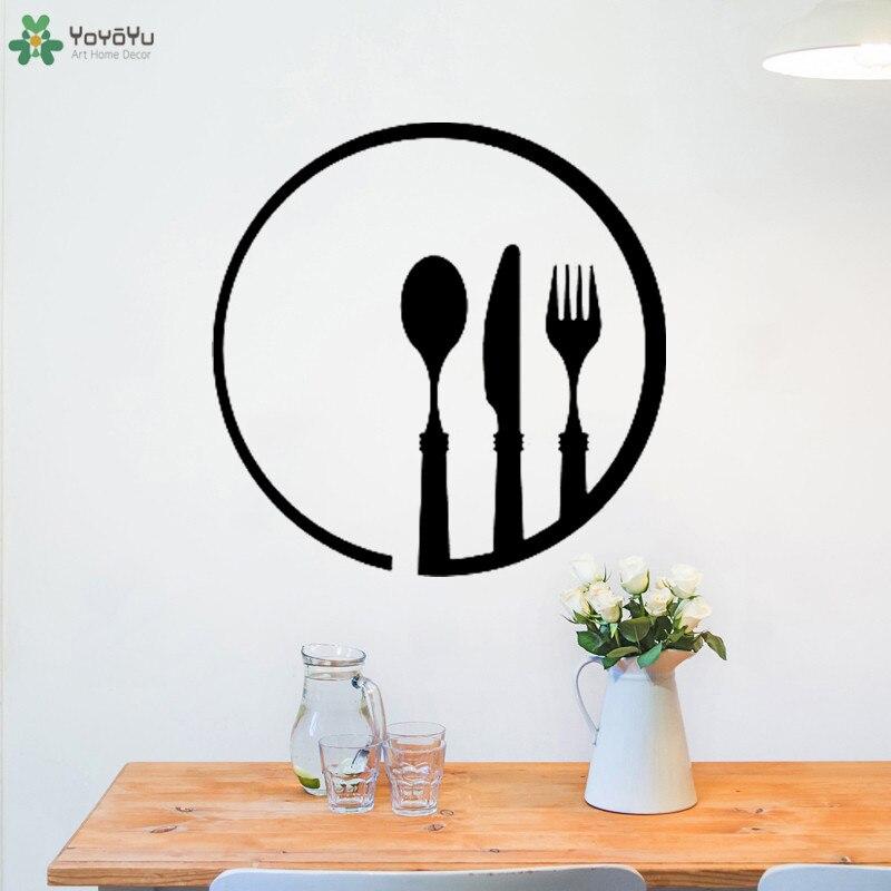 Yoyoyu Wall Decal Knife Fork Spoon
