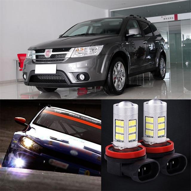 Ownsun 2pcs 72 Smd Daytime Running Light Bulbs Led Fog Lamp For Fiat