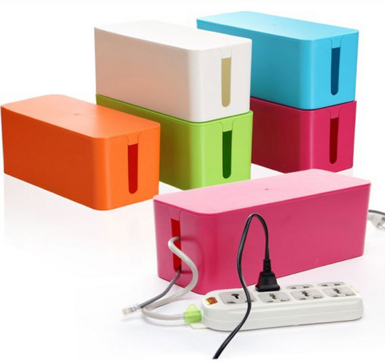 Cablebox Cable Wire Storage Box Red Blue White Green 4Colors S M L Free Shipping