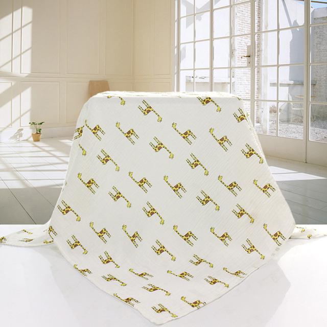 Swaddleme Muslin Baby Blanket 100% Cotton Gauze Blanket 120x120cm Newborn Infant Swaddle Baby Towel Double layers Muslin Blanket