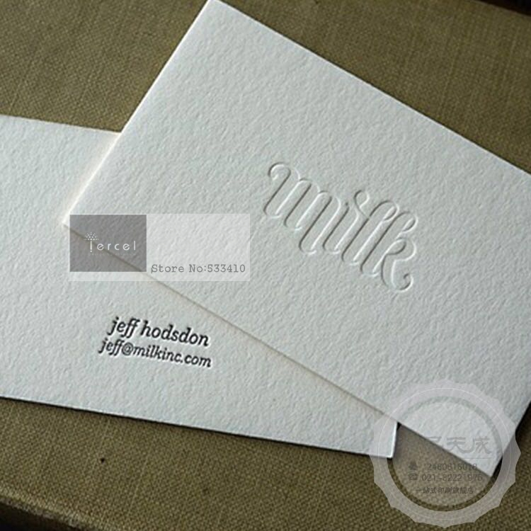 custom made design embossing paper business card with fast free ...