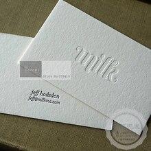 カスタムメイドのデザインエンボス紙ビジネスカードによる高速送料無料 dhl エクスプレス。