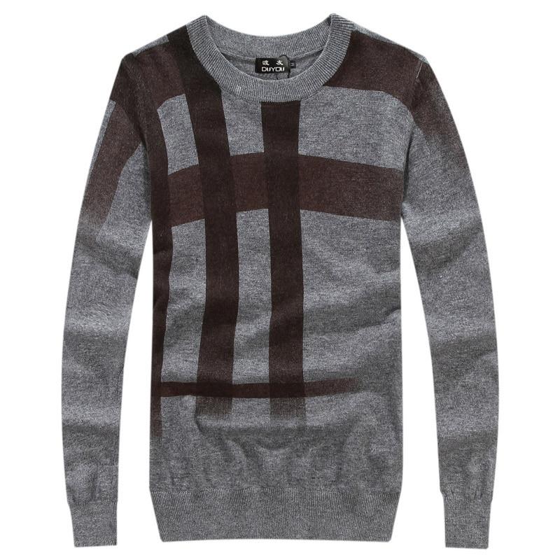 Одежда высшего качества Для мужчин сращивания принт пуловер, Рождественский свитер в британском стиле ретро Для мужчин s бренд Повседневно... - 3