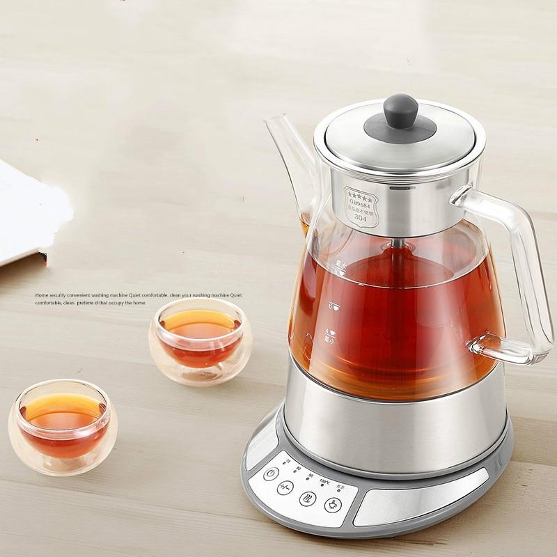 Brew tea ware black glass automatic electric kettle steam boiling pu er pot