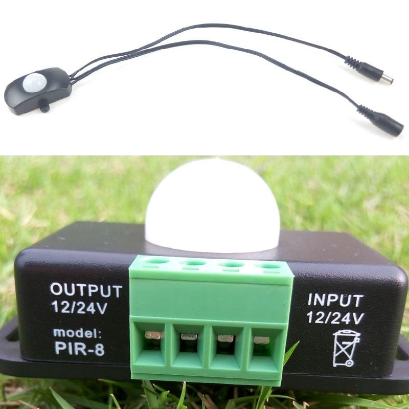 12V 24V PIR Motion Sensor LED Switch Detector for 5050 3528 Strip Profile Ruban Light Tape Infrared Detection 6A 5A 12 V 24Volt dc 12v 24v touch sensor control switch for 5050 3528 led strip light lighting l057 new hot