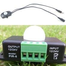 12V 24V PIR Motion Sensor LED Switch Detector for 5050 3528 Strip