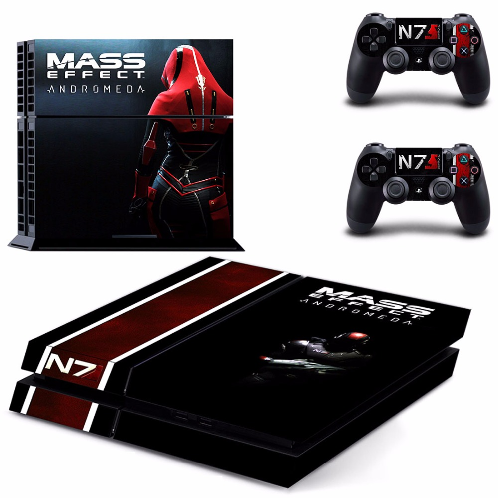 Game Mass Effect Andromeda PS4 Skin Sticker Decal For Sony PlayStation 4 Console and 2 Controllers PS4 Skins Sticker Vinyl