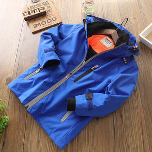 Image 5 - 2019 סתיו חורף ילדים בנים חיצוני עמיד למים מעיל צמר מעיל הוד מעיל רוח ספורט Windproof מעילים להאריך ימים יותר ילדי בגדים