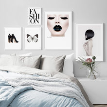 Fashion Sexy Woman Body Art Prints Animal Nordic Posters And Prints Wall Art Canvas Painting Wall Pictures For Living Room Decor(China)