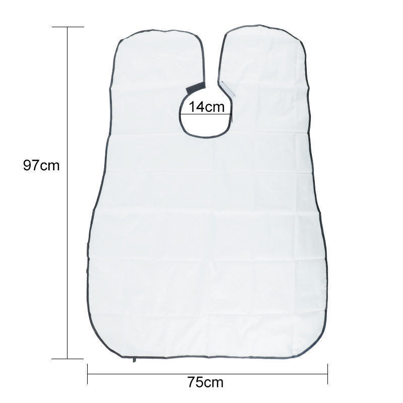 Image 4 - White/Black  Beard Apron Beard Care Clean Gather Cloth Bib Facial Hair Dye Trimmings Shaving Apron Catcher Cape with-in Aprons from Home & Garden