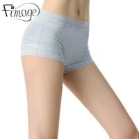 Fimage 100 Mulberry Silk Women S Safety Short Pants Femme Lace Briefs White Underpants Woman