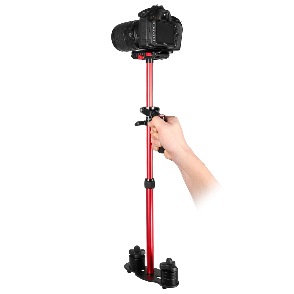 цена на High Quality Handheld Stabilizer Aluminium Alloy for SLR Camera for Gopro Shooting Video for Wedding Party Black-red