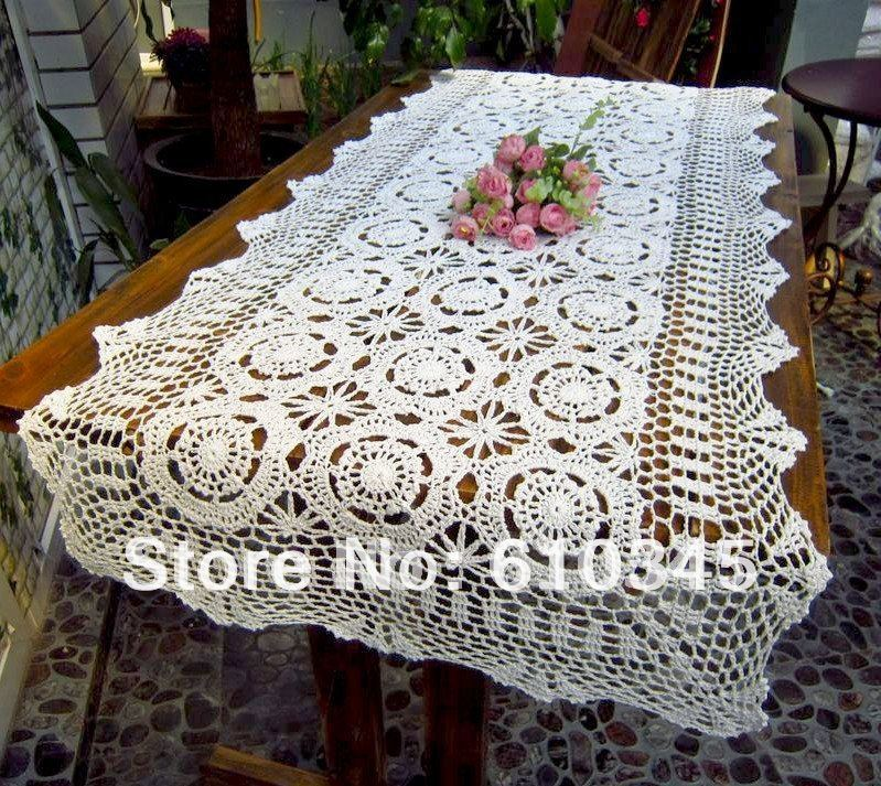 free shipping hot selling 100 cotton hand knitting crochet table runner 60x210cm table flag table - Chemin De Table Color