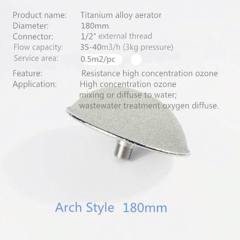 Titanium disc micro nano bubble generator ozone air diffuser for waste water treatment
