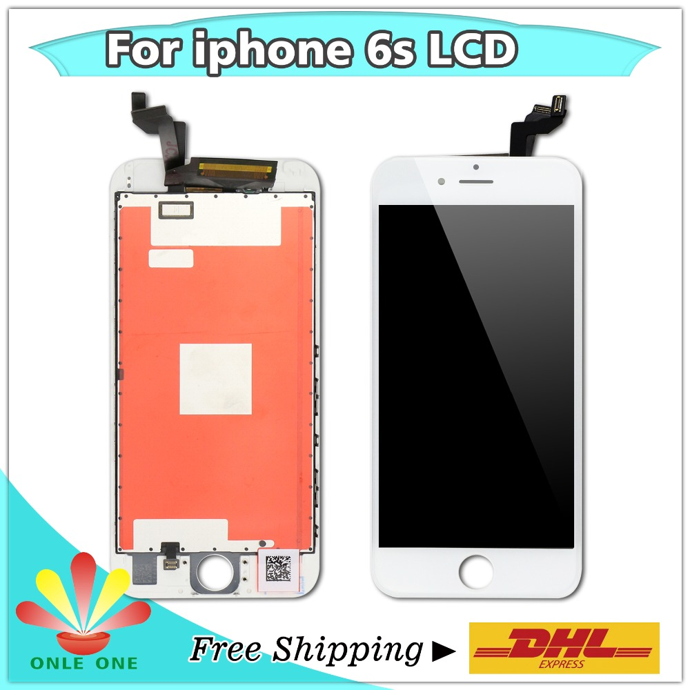 20 pcs lot Digitizer Touch Screen and Display LCD For IPhone 6S Replacement Grade AAA Black