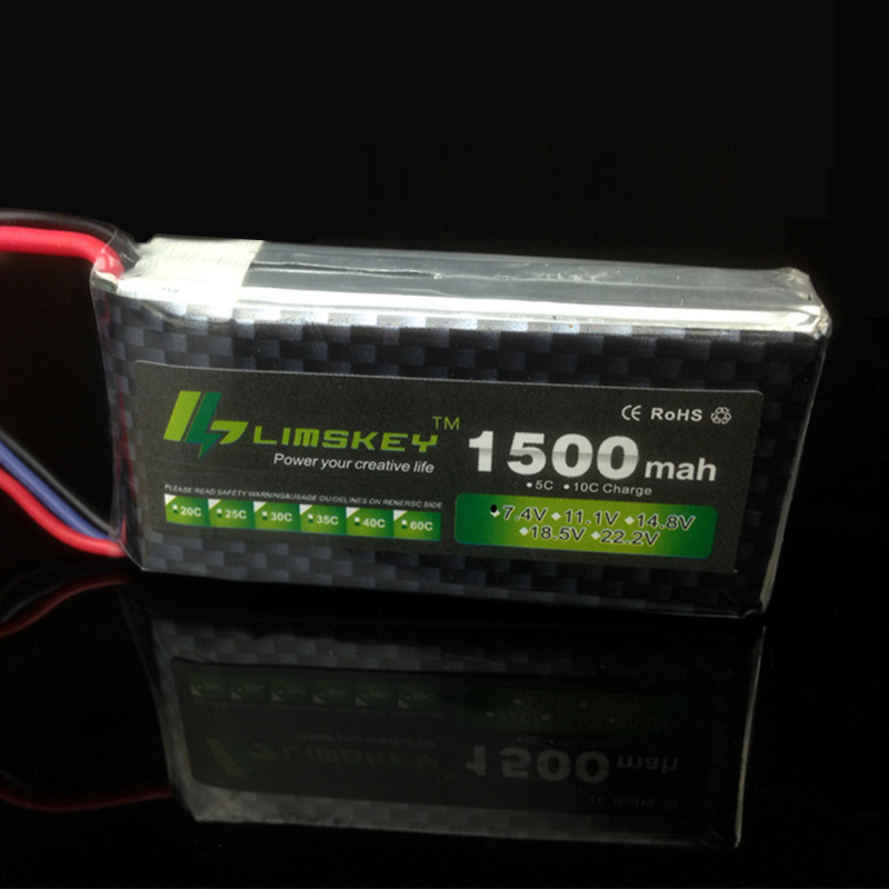 Limskey Power 2S Lipo Battery 7.4V 1500mah 25C Max 30C for RC Qudcopter Helicopter Airplane Car JST T  Plug Toy Battery 2S 2PCS mos rc airplane lipo battery 3s 11 1v 5200mah 40c for quadrotor rc boat rc car